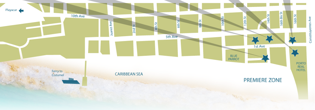 Condo Hotels Playa del Carmen Map