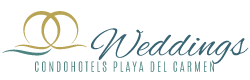 weddings at condo hotels playa del carmen logo